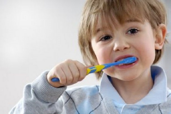 brushing twice a day