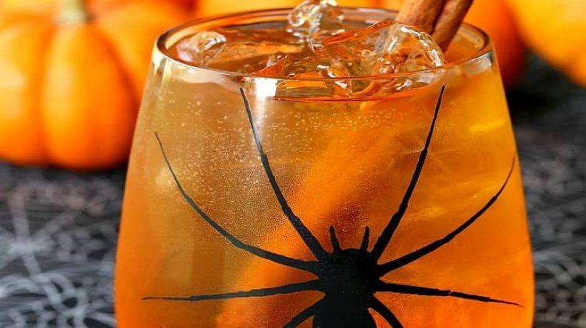 Halloween drink recipe orange spritzer