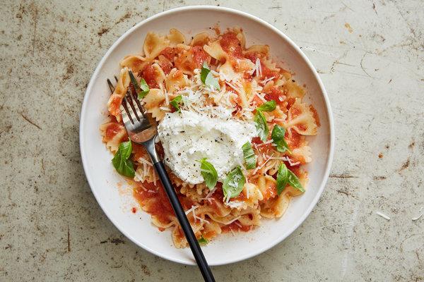 Spaghetti with ricotta recipe
