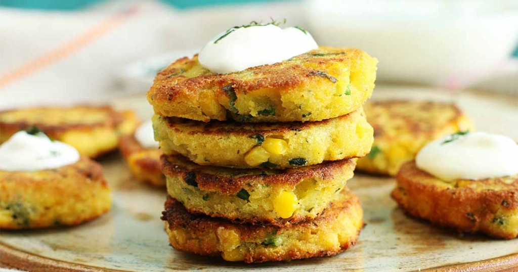 Corn cake with cheese